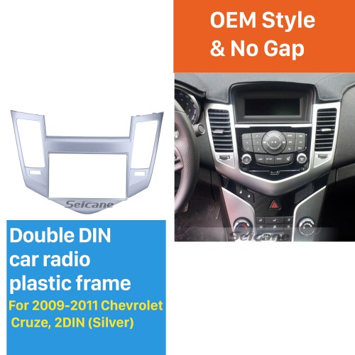 Newest Double Din 2009-2011 Chevrolet Cruze Car Radio Fascia Stereo DVD Player Install frame Surrounded Trim Panel Kit