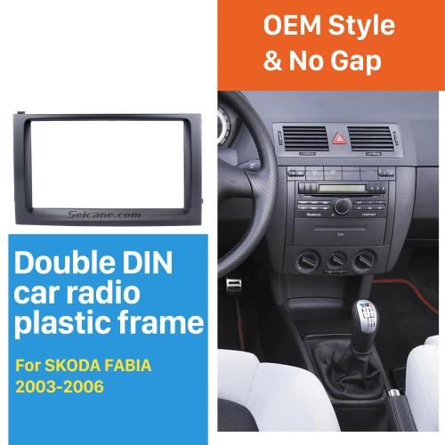 Classic Double Din Car Radio Fascia for 2003 2004 2005 2006 Skoda Fabia DVD Frame Face Plate Panel Kit Trim Installation