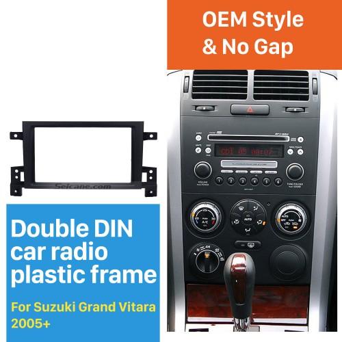 Tip-top 2Din 2005 2006 2007 2008 2010-2014 Suzuki Grand Vitara Car Radio Fascia DVD Panel Dash Kit Install Frame Trim Bezel