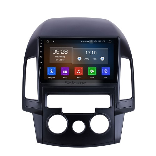 HD Touchscreen for 2008 2009 2010 2011 Hyundai i30 LHD Manual A/C Radio Android 10.0 9 inch GPS Navigation System Bluetooth Carplay support DAB+