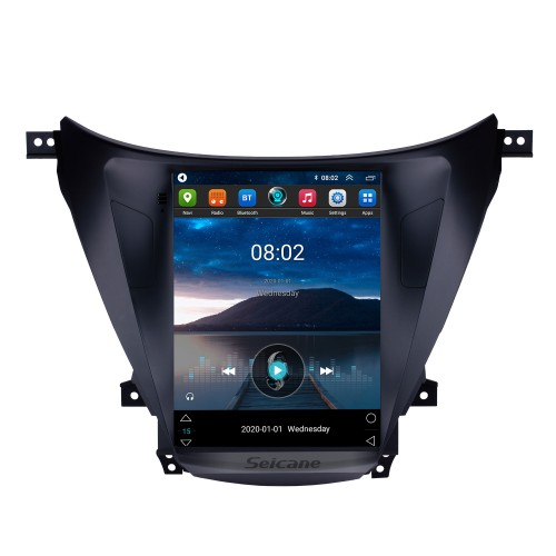 2012 2013 2014 Hyundai Avante Elantra 9.7 inch Android 9.1 HD Touchscreen Stereo Bluetooth GPS Navigation Radio with Wifi AUX USB Steering Wheel Control support DVR Rearview Camera OBD