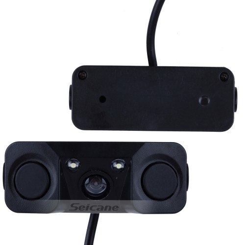 HD 3 in 1 Sound Alarm CCD HD Car Reverse Backup LED Rear View Camera Parking Radar System, Rearview Camera + 2 Sensors
