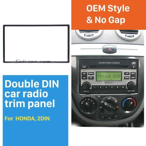 Universal 178*100mm 2Din HONDA FIT Jazz automobile Car Radio Fascia Audio frame Trim Installation Kit Dashboard Panel