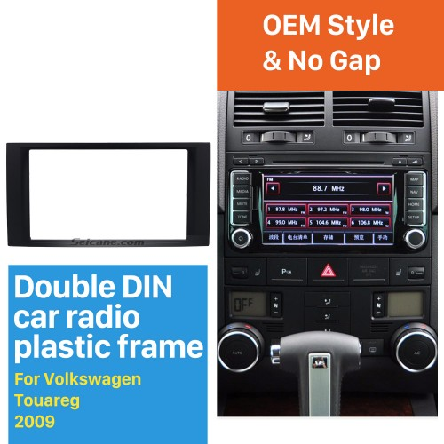 Double Din For 2009 VW Volkswagen Touareg Transporter T5 Multivan Car Radio Fascia Surround CD Fitting Kit Install Frame Trim Panel