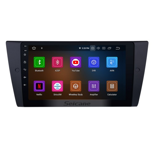 All in one Android 9.0 9 inch HD Touchscreen Radio for 2005-2012 BMW 3 Series E90 E91 E92 E93 316i 318i 320i 320si 323i 325i 328i 330i 335i 335is M3 316d 318d 320d 325d 330d 335d with GPS Navigation system WIFI tv bluetooth usb