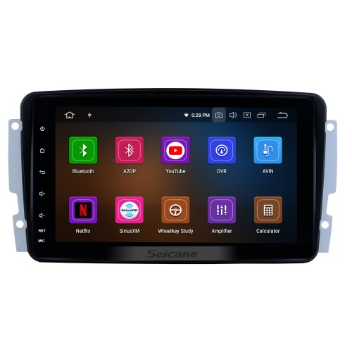 9 Inch OEM Android 4.4 Radio Capacitive Touch Screen For 2006-2011 Mercedes-Benz CLK W209 CLS W219 Support 3G WiFi Bluetooth GPS Navigation system TPMS DVR OBD II AUX Headrest Monitor Control Video Rear camera USB SD