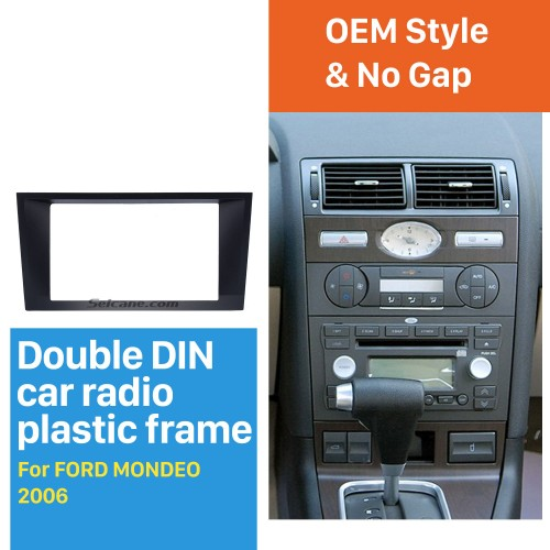 Stunning Double Din Car Radio Fascia for 2006 Ford Mondeo Audio Frame Panel Adaptor Dash Kit Trim Bezel