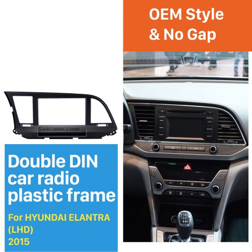 Perfect Double Din 2015 HYUNDAI ELANTRA LHD Car Radio Fascia Trim Bezel DVD Stereo Player Panel Frame