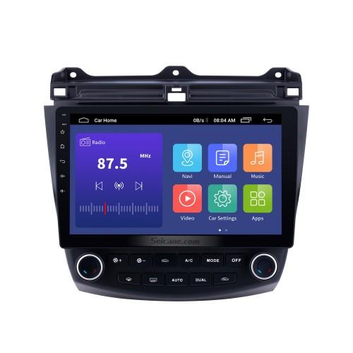 10.1 inch Android 9.0 HD 1024*600 Touch Screen Car Radio For 2003 2004 2005 2006 2007 Honda Accord 7 GPS Navigation Bluetooth Music WIFI USB Mirror Link Head unit Support DVR OBD2 Steering Wheel Control Backup Camera