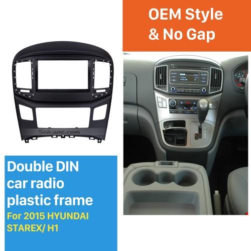 Peerless Separate Double Din HYUNDAI STAREX H1 Car Radio Fascia Trim Installation Kit DVD Frame Face Plate