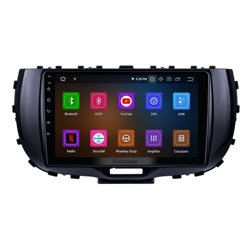 OEM Android 10.0 for 2019 Kia Soul Radio with Bluetooth 9 inch HD Touchscreen GPS Navigation System Carplay support DSP