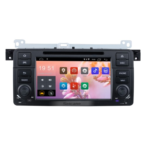 7 Inch Android 9.0 In Dash Radio For 2000-2006 BMW 3 Series M3 E46 316i  Rover 75 MG ZT GPS Navigation Car DVD Player Audio system Bluetooth Radio Music Support Mirror Link 3G WiFi DAB+