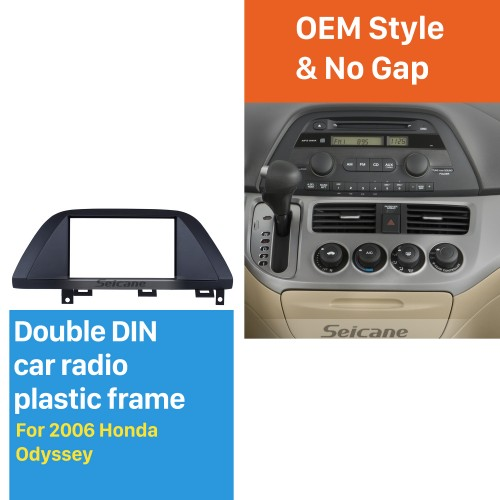 Durable 2Din 2006 Honda Odyssey Car Radio Fascia DVD panel In Dash Mount Kit Fitting frame Auto Stereo CD