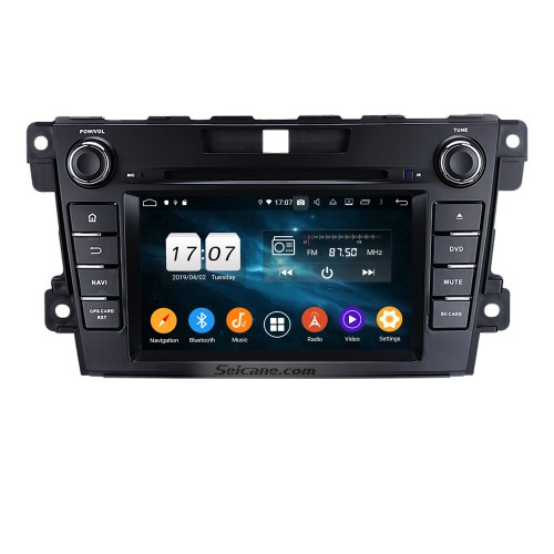 Android 9.0 HD 1024*600 Touch Screen GPS Navigation System Radio for 2007-2014 Mazda CX-7 with DVD Player Bluetooth Mirror link DVR TV Video WIFI Backup Camera USB SD Steering Wheel control OBD2
