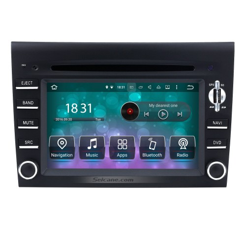 Android 9.0 GPS Navigation system for 2005-2008 Porsche 911 997 with DVD Player Touch Screen Radio Bluetooth WiFi TV Backup Camera steering wheel control HD 1080P Video USB SD