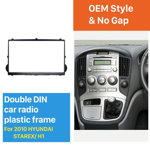 Black Double Din 2010 HYUNDAI STAREX H1 Car Radio Fascia Dash Kit Panel Plate Auto Stereo CD Frame