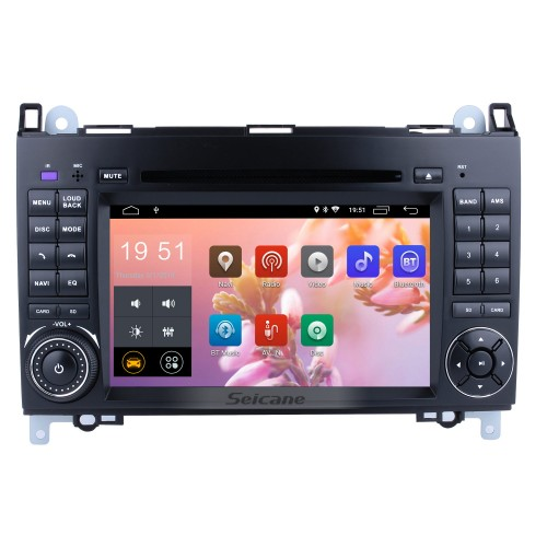 Android 8.1 Radio Head Unit 7 Inch HD Touchscreen For 2004-2012 Mercedes Benz B Class W245 B200 C Class W203 S203 C180 C200 CLK Class C209 W209 C208 W208 Car Stereo DVD Player GPS Navigation System Music Bluetooth 4G WIFI Support 1080P Video Backup Camera