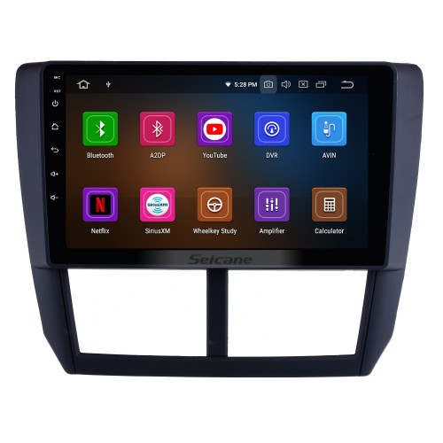 9 inch Android 9.0 2008 2009 2010 2011 2012 Subaru Forester HD Touchscreen Head Unit GPS Radio GPS Navigation System Bluetooth Support Steering Wheel Control DVR Vedio Carplay 3G/4G WIFI
