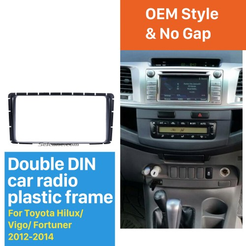 202*102mm 2Din 2012 2013 2014 Toyota Hilux Vigo Fortuner Car Radio Fascia Installation Kit Audio frame Dash CD