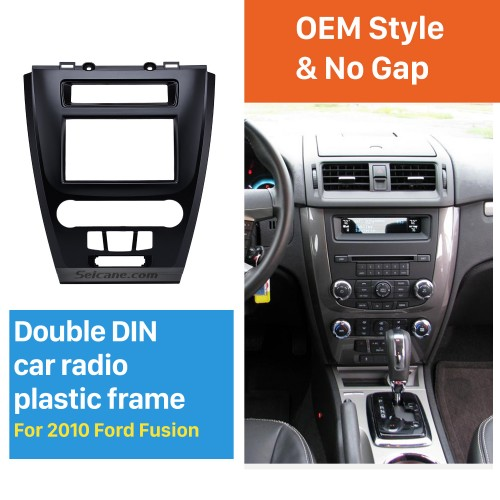 Black 2Din Car Radio Fascia for 2010 Ford Fusion Auto Stereo Adaptor Panel Plate Frame Dash Mount