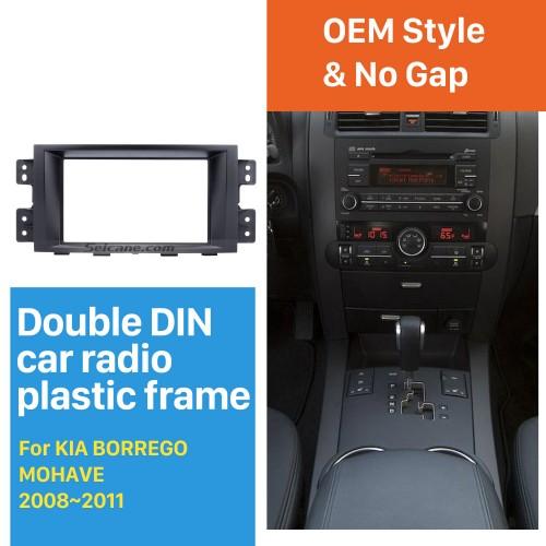 Superb Double Din Car Radio Fascia for 2008 2009 2010 2011 KIA BORREGO MOHAVE DVD Stereo Player Surround Panel Dash Frame Kit