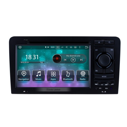 OEM Android 8.0 HD Touchscrenn Car Radio Head Unit For 2003-2011 Audi A3 S3 DVD Player GPS Navigation Bluetooth WIFI Support Mirror Link USB DVR 1080P Video Steering Wheel Control