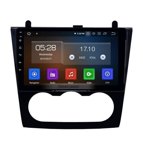 HD Touchscreen 9 inch Android 9.0 GPS Navigation Bluetooth Radio for 2008-2012 Nissan Teana Altima Manual A/C with WIFI USB AUX support DVD SWC TPMS DVR 4G