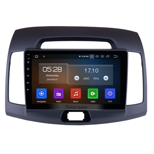Aftermarket Android 9.0 GPS Navigation System for 2007-2011 HYUNDAI ELANTRA Radio Upgrade Bluetooth Music Touch Screen Stereo WiFi Mirror Link Steering Wheel Control support 3G DVD Player
