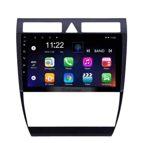 OEM 9 inch Android 8.1 Radio for 1997-2004 Audi A6 S6 RS6 Bluetooth WIFI HD Touchscreen GPS Navigation AUX USB support Carplay DVR OBD Rearview camera TPMS