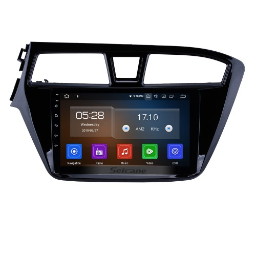 9 inch HD Touchscreen Android 10.0 GPS Navigation System Bluetooth WIFI For 2014 2015 Hyundai I20 Support USB Rear View Camera DVR OBD II 1080P Video TPMS