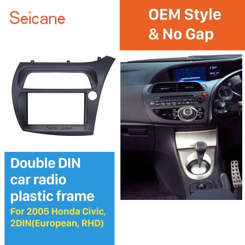 Classic 2Din 2005 Honda Civic European RHD Car Radio Fascia Trim Panel Installation Kit Dash Mount Audio frame