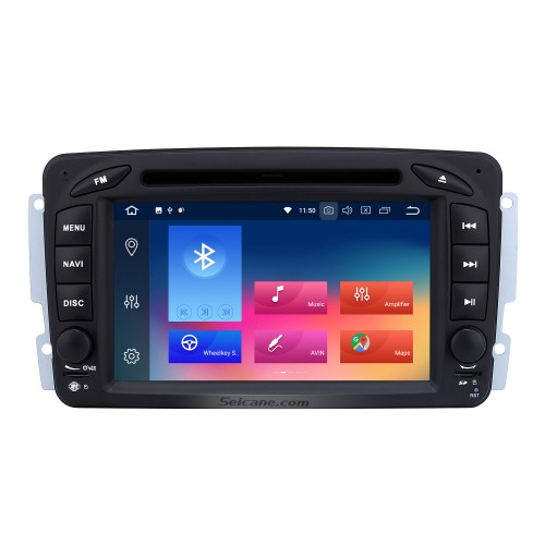 Double Din Android 8.0 Bluetooth DVD In Dash GPS Stereo for 2004 2005 2006 Mercedes Benz Viano Vito with 3G WiFi Radio Tuner Mirror Link OBD2 HD 1024*600 Multi-touch Screen