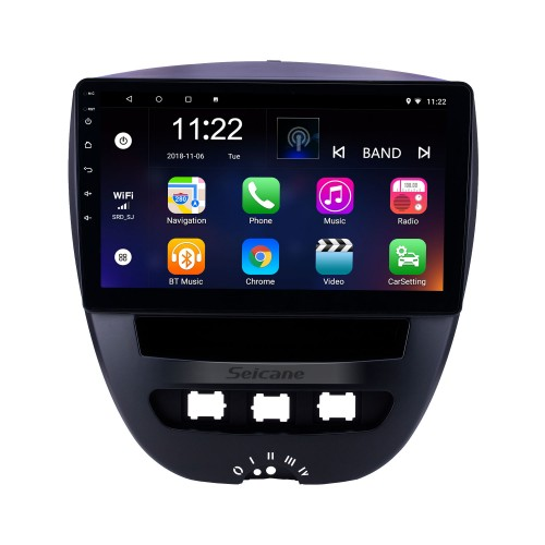 10.1 inch Android 8.1 2005-2014 Peugeot 107 GPS Navigation Radio with Bluetooth HD Touchscreen WIFI support TPMS DVR Carplay Rearview camera DAB+