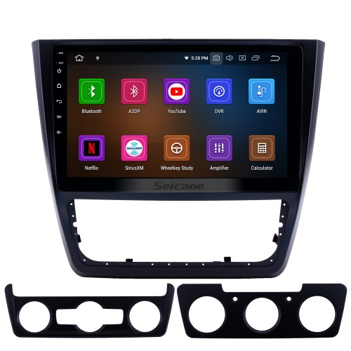 10.1 inch Android 9.0 Radio for 2014-2018 Skoda Yeti Bluetooth Touchscreen GPS Navigation Carplay USB support TPMS DAB+ DVR