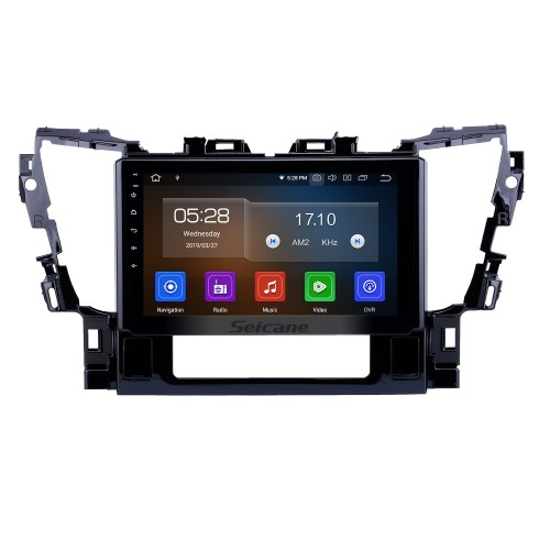10.1 inch Android 9.0 GPS Navigation Radio for 2015 2016 Toyota Alphard Bluetooth Wifi HD Touchscreen Carplay support DAB+ Steering Wheel Control