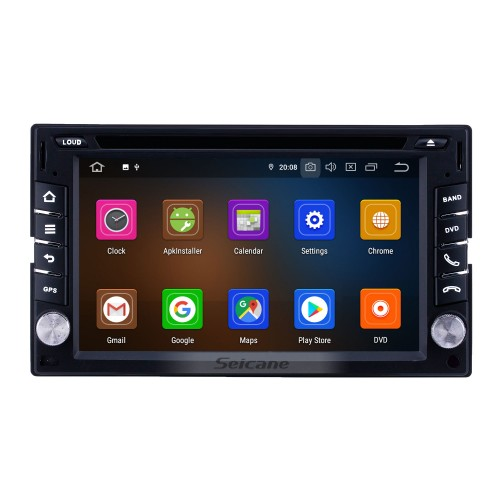 6.2 inch Android 9.0 Universal Radio Bluetooth AUX HD Touchscreen WIFI GPS Navigation Carplay USB support TPMS DVR