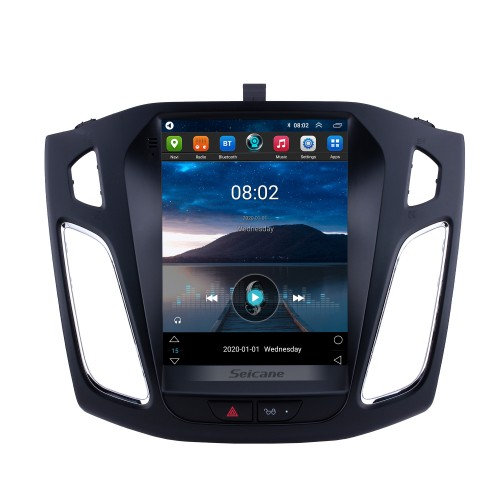 Android 10.0 2012 2013 2014 2015 Ford Focus 9.7 inch Tesla Style HD Touchscreen Car Stereo Radio Head Unit GPS Navigation Bluetooth Support Steering Wheel Control USB WIFI OBD2 Rearview Camera