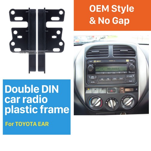 13mm Double Din Toyota Ear Sides Car Radio Fascia Dash Mount Kit Face Plate Frame Panel Autostereo Adapter