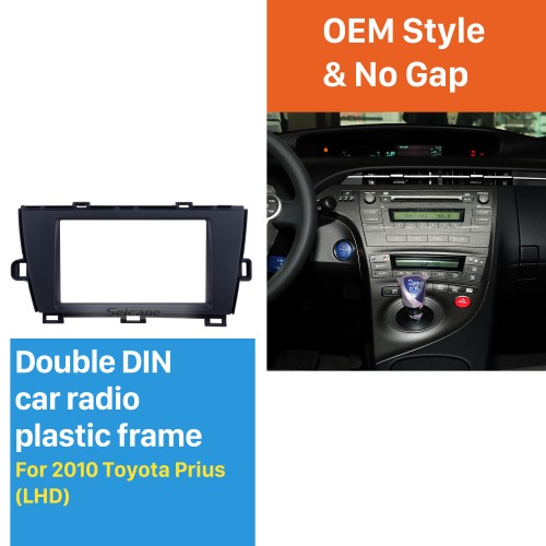 Well-designed Double Din 2010 Toyota Prius LHD Car Radio Fascia Surround Panel Dash Kit Face Plate Frame