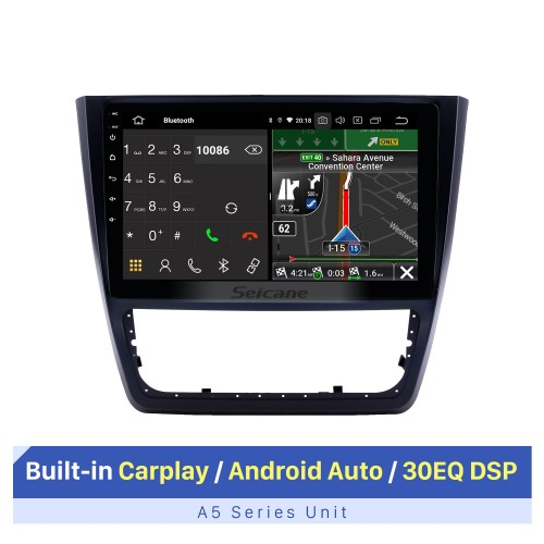 10.1 inch 2014-2018 Skoda Yeti Android 10.0 GPS Navigation Radio Bluetooth HD Touchscreen AUX USB Carplay