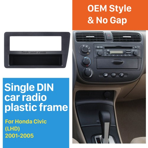 Perfect 1Din 2001 2002 2003 2004 2005 Honda Civic LHD Car Radio Fascia In Dash Mount Kit CD Trim Panel DVD Frame