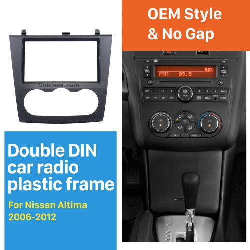 UV Black Double Din 2006-2012 Nissan Altima Car Radio Fascia DVD Panel Fitting Kit Installation Frame Audio Player