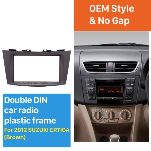 Black Double Din 2012 Suzuki Ertiga Car Radio Fascia CD Trim Panel Audio Fitting Frame Adaptor Dash Mount
