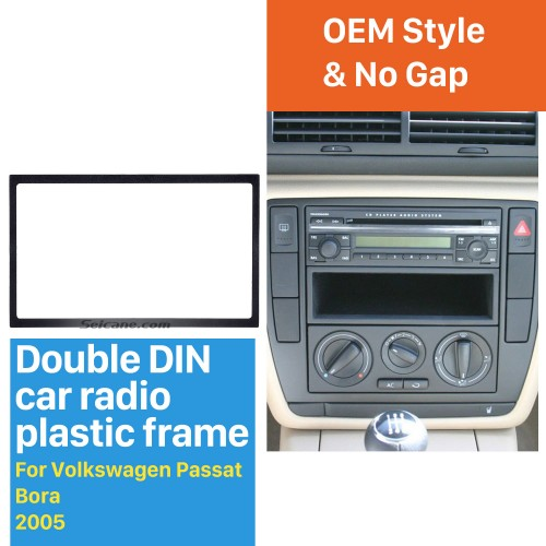 Double 2 DIN frame 2 DIN fascia plate for 2005 Volkswagen Passat Bora 178 x 102mm