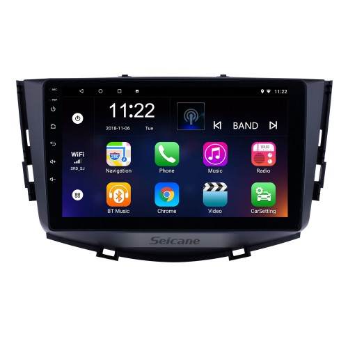 HD Touchscreen 9 inch Android 8.1 GPS Navigation Radio for 2011-2016 Lifan X60 with Bluetooth USB WIFI AUX support DVR Carplay SWC 3G Backup camera