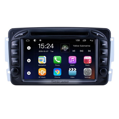 OEM 7 inch Android 9.0 for 1998 1999 2000-2006 Mercedes Benz CLK-Class W209/G-Class W463 Radio Bluetooth HD Touchscreen GPS Navigation System support Carplay
