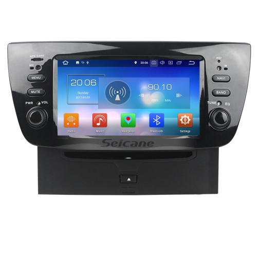 2010 2011 2012 2013 2014 FLAT DOBLO Android 8.0 Radio DVD Player GPS Navigation System with Bluetooth DVR DAB+ TPMS Mirror Link Backup Camera