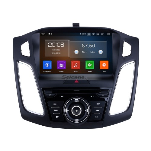 Android 10.0 For 2015 Ford Focus Radio 9 inch GPS Navigation System Bluetooth HD Touchscreen Carplay support Steering Wheel Control DSP