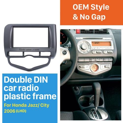 Best Quality Double Din 2006 Honda Jazz City Auto AC LHD Car Radio Fascia DVD Player frame Dash Mount Kit Adaptor