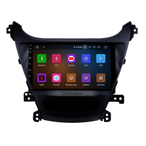 9 inch Android 9.0 HD Touch Screen Radio for 2014-2015 Hyundai Elantra with GPS Navigation system Bluetooth USB WIFI OBD2 TPMS Mirror Link Rearview Camera